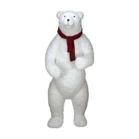 Northlight Seasonal Standing Plush Polar Bear Figure