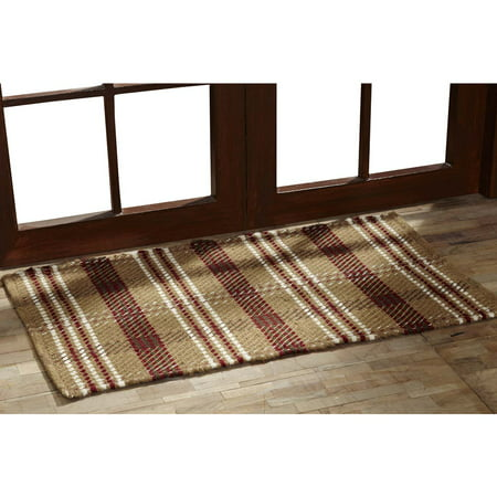 Natural Tan Rustic & Lodge Flooring Berkeley Wool Textured Plaid Rectangle Accent Rug ()