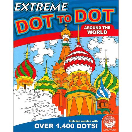 Around The World Extreme Dot To Dot Draw And Coloring - Extreme Dot To Dots