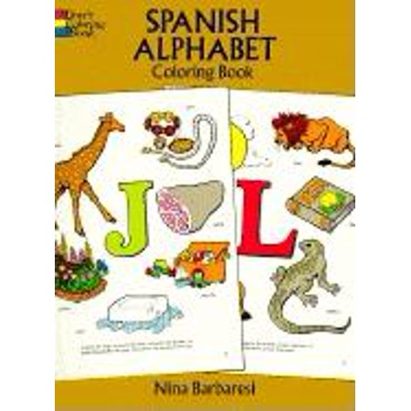 Dover Children\'s Bilingual Coloring Book: Spanish Alphabet Coloring Book  (Paperback)