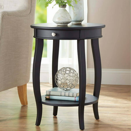 Better Homes & Gardens Round Accent Table with Drawer, Multiple Colors - Decorator Round Table