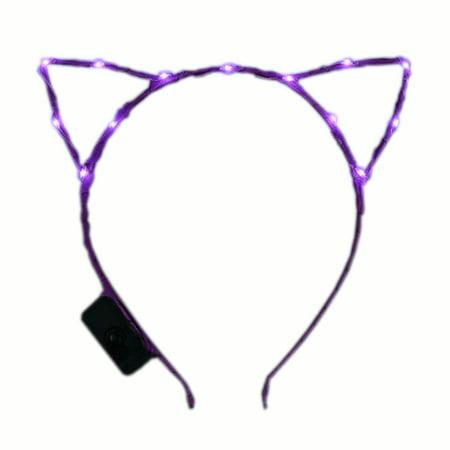 Purple LED Kitty Cat Ear Headband](Hello Kitty Headband)