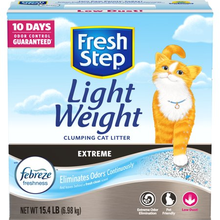 Fresh Step Lightweight Extreme With Febreze Freshness, Clumping Cat Litter, Scented, 15.4 Lbs