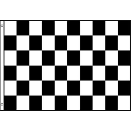 Black and White Checkered Nylon 3 x 5 Foot Flag Indoor Outdoor Racing Race New](Checkered Flag Decorations)