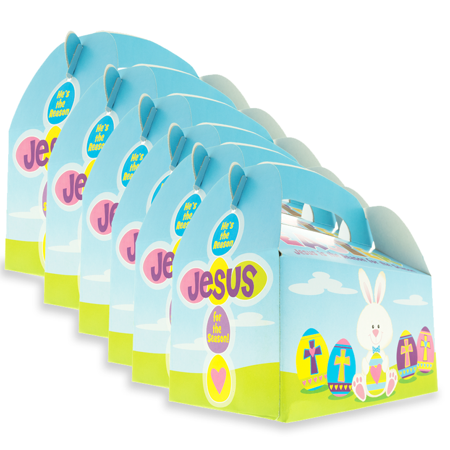 Set of 6 Easter Hunt Paper Gift Box Easter Assorted Gift Box