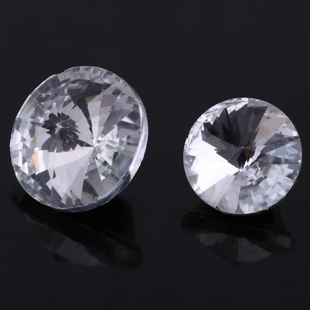 Tbest 50PCS/LOT 20MM 25MM Rhinestone Crystal Buttons Sewing Sofa DIY Craft Decoration Accessories, Rhinestone Buttons,Crystal Buttons