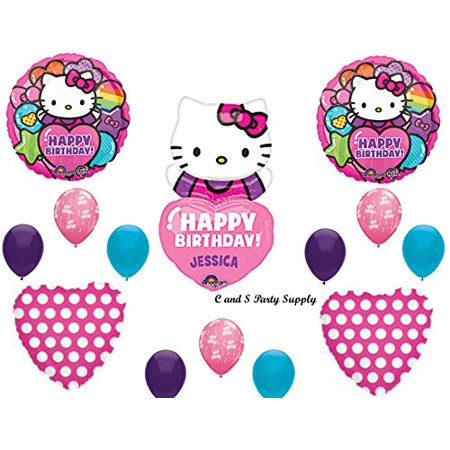 HELLO KITTY PERSONALIZED Birthday Party Mylar Balloons Decorations Supplies by Anagram](Hello Kitty Birthday Decorations)