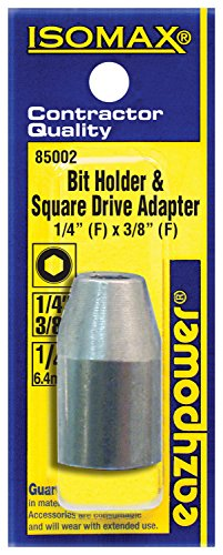 1 Long 1//4 Female Hex Bit Holder /& 3//8 Square Drive Adapter 1 Long Eazypower 050025 Tub 12 1//4 Female Hex Bit Holder /& 3//8 Square Drive Adapter