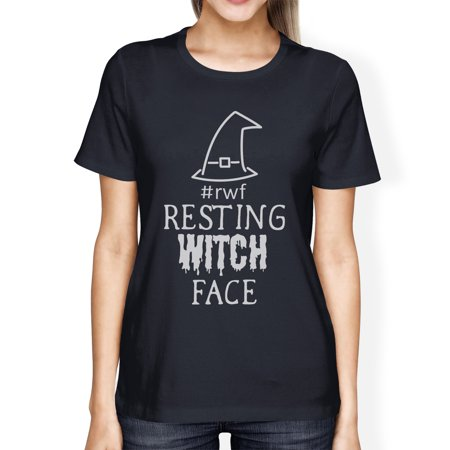 Resting Witch Face Cute Womens Halloween Graphic Short Sleeve Shirt - Short Halloween Limericks