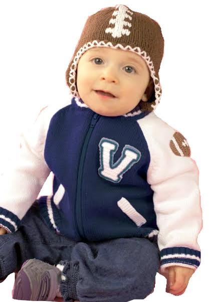 Zubels Baby Boys Hand Knit Boys Varsity Football Sweater 3T