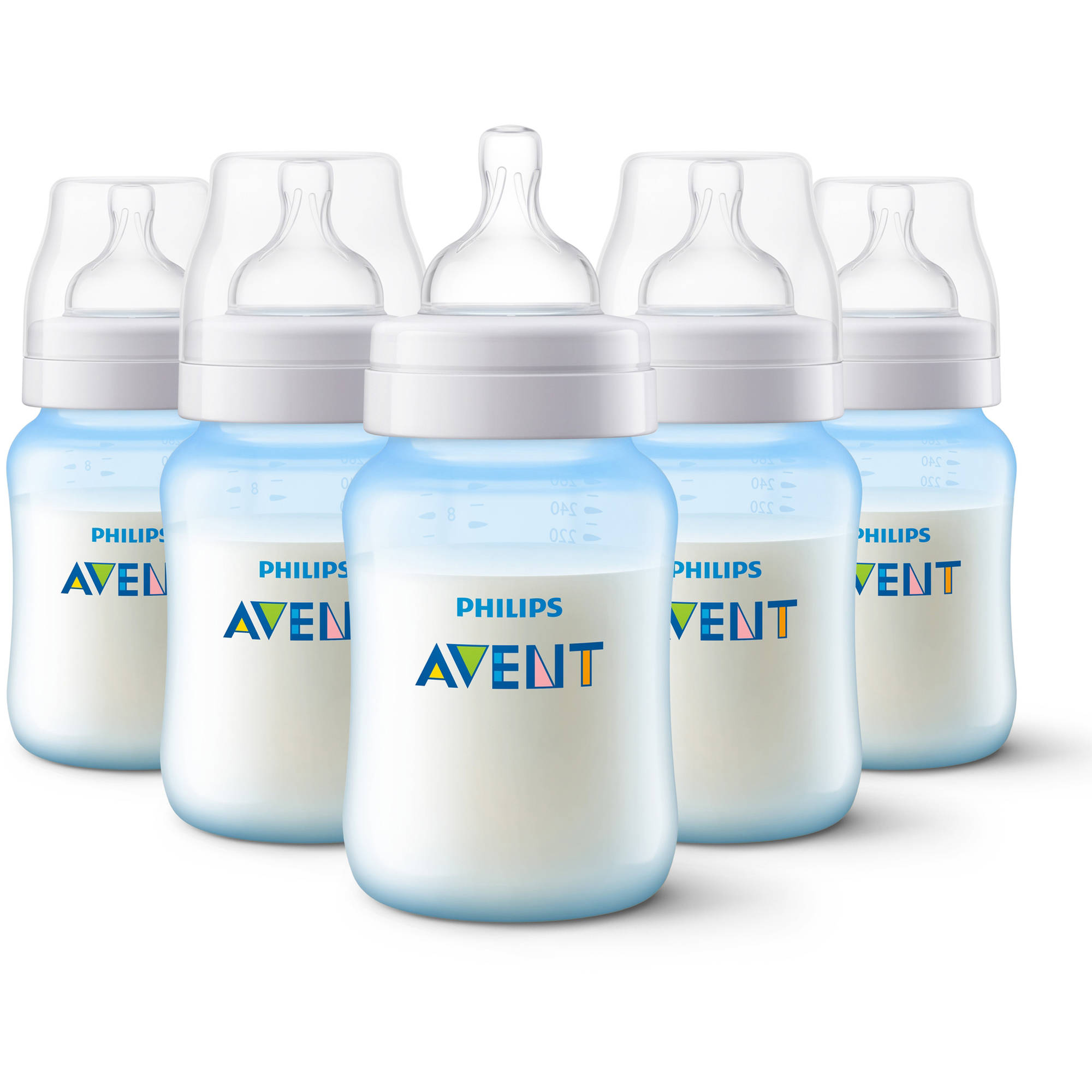 Philips Avent Anti-Colic Blue 9-oz Baby Bottles, BPA-Free, 5pk