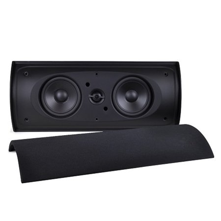Elan Elios Eurostyle Wall Mount Dual 4 5  Speakers With Tweeter   Black   Es412b