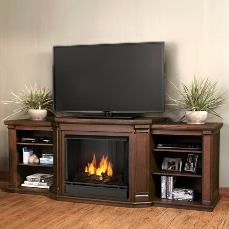 Real Flame Valmont Entertainment Center Ventless Gel Fireplace - Chestnut Oak