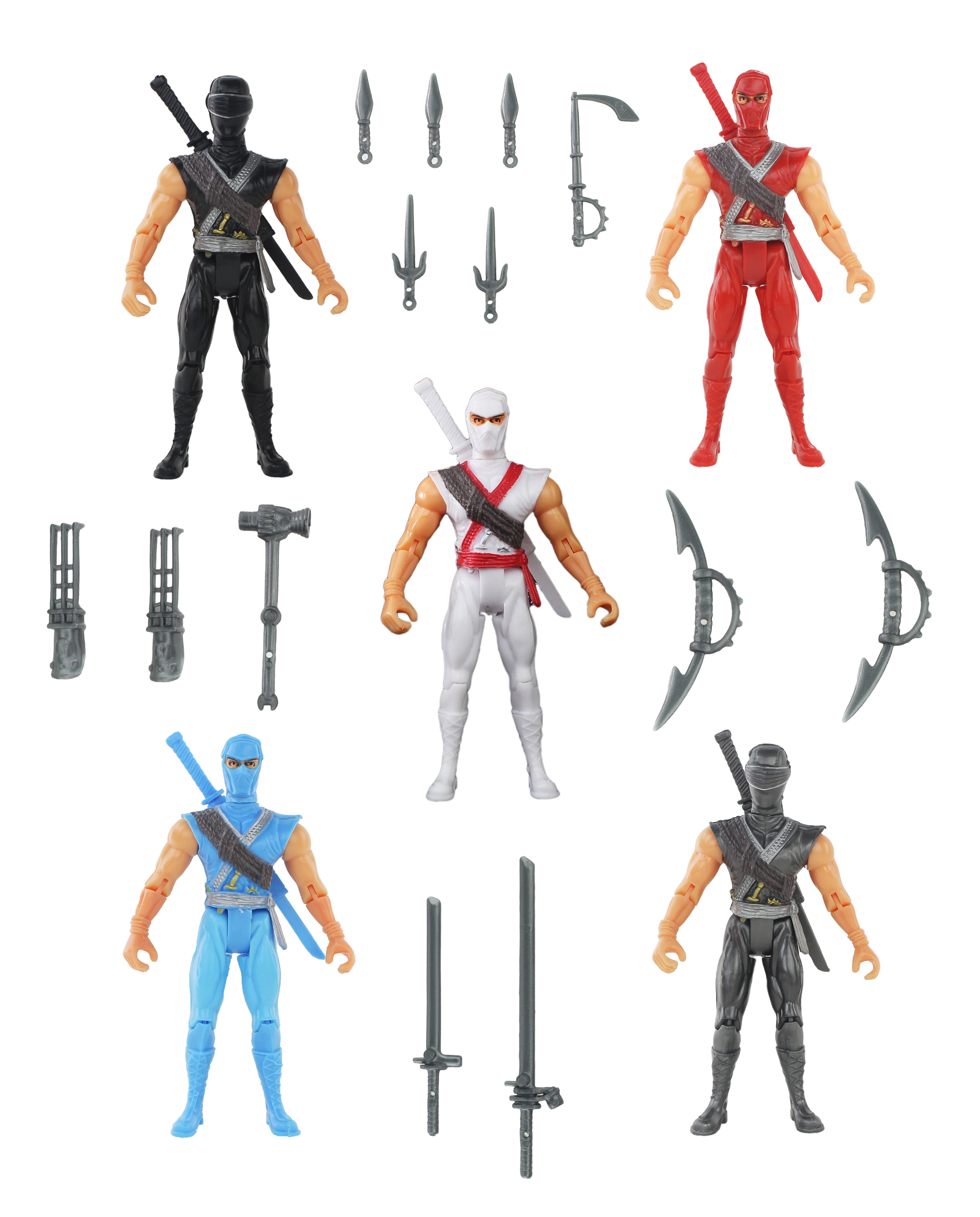 Super Cyber Ninja League Squad Action Figure Playset, Fun Set of Action Figures, Heroes... by Velocity Toys