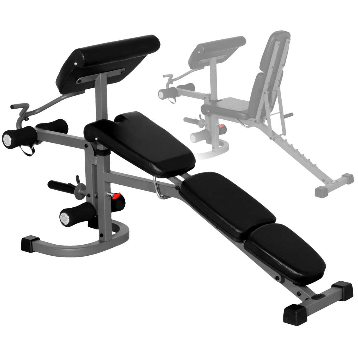 XMark FID Weight Bench with Arm Curl and Leg Developer
