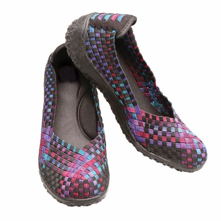 d4f8e9814 CLOUD COMFORT / ZEE ALEXIS - Women's Woven Shoes Go-With-Everything Stretch  Loafer - Walmart.com