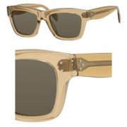 Cl41732-Lrz1e-51 Women's Square Light Brown Translucent Sunglasses