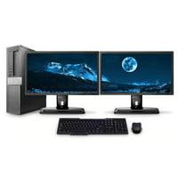 "Dell PC Computer Desktop CORE i5 3.0GHz 4GB 1TB HD Windows 10 W/Dual 19"" - Refurbished"