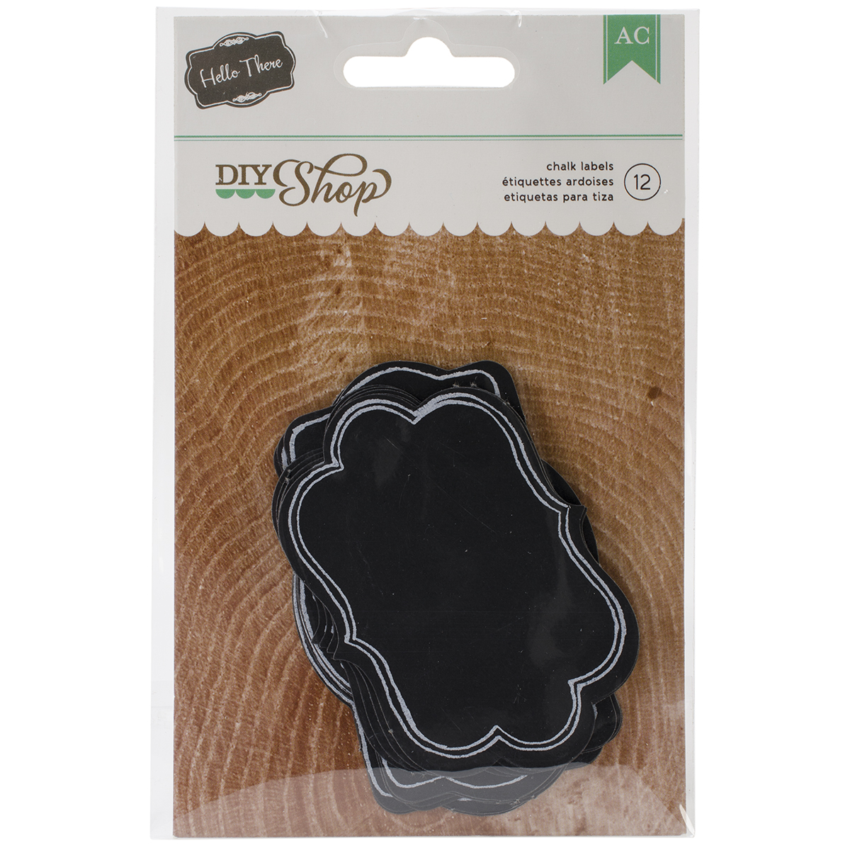 "DIY Shop Fancy Labels 12/Pkg-Chalkboard, 1.75""X2.25"" & 1.125""X3.75"""