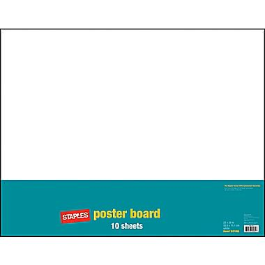 "Staples Poster Boards, 10-Pack, White, 22"" x 28 ..."