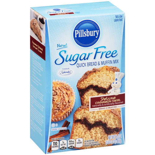 Pillsbury Sugar Free Deluxe Cinnamon Swirl Quick Bread & Muffin Mix, 16.4 oz