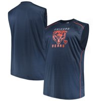 Men's Majestic Navy Chicago Bears Big & Tall Endurance Test Muscle Tank Top