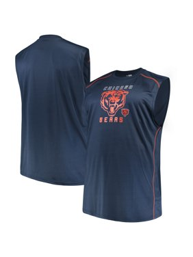4b0738ee8 Product Image Men's Majestic Navy Chicago Bears Big & Tall Endurance Test  Muscle ...