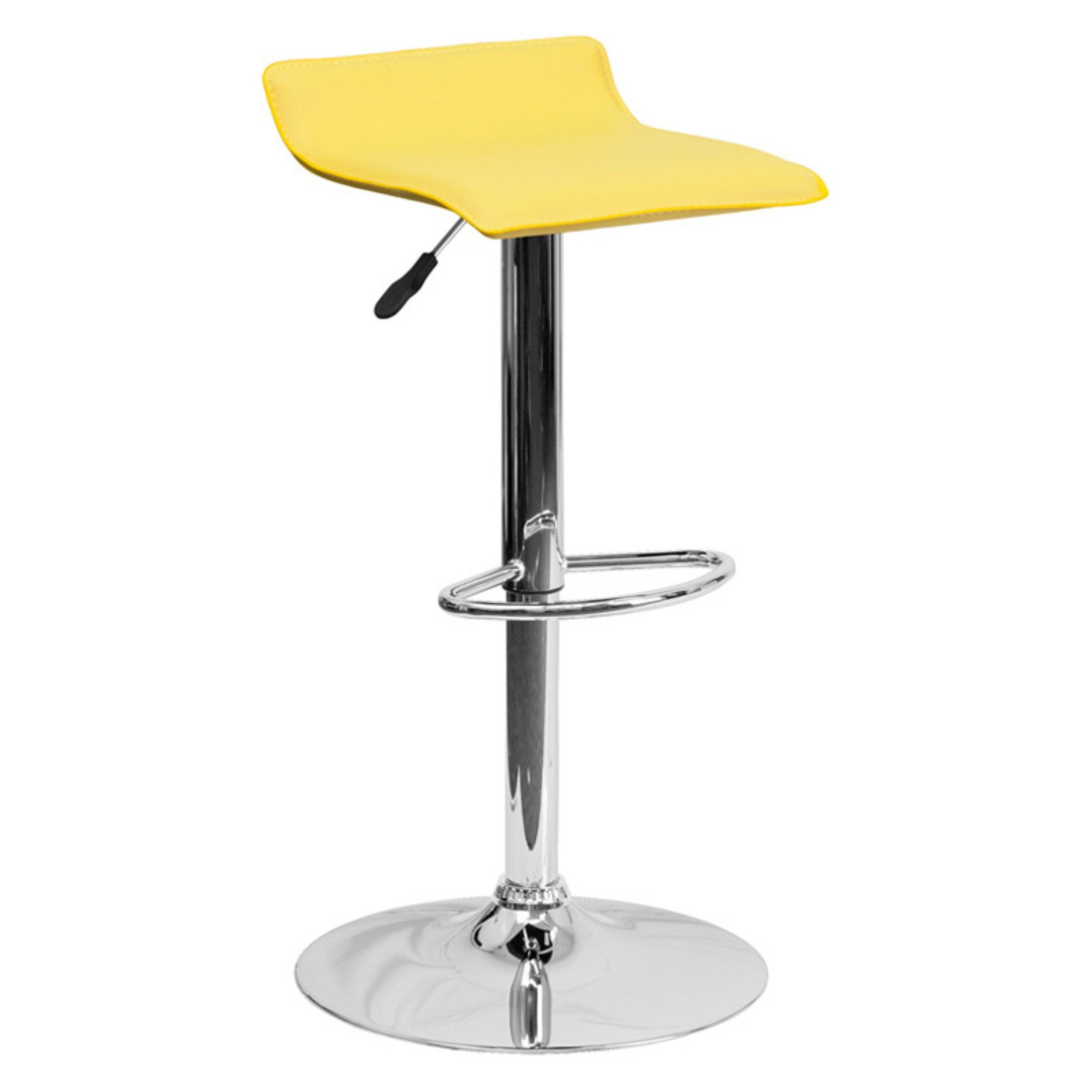 Flash Furniture Contemporary Vinyl Adjustable Height Bar Stool with Chrome Base, Multiple Colors by Flash Furniture