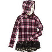 Girls' Hoodie with Bottoms Lace Ruffle