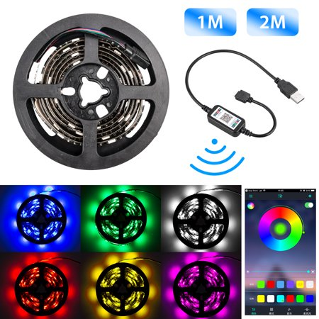 EEEkit LED Light Strip Wireless Bluetooth Phone APP Controlled, Flexible RGB 5050 LED Lights, Music Sync or Voice Control, 16 Millions Colors, for Home Upstairs Kitchen Halloween Christmas Parties - Hue Halloween App