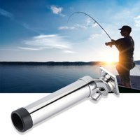 FAGINEY Boat Fishing Rod Holder, Fishing Rod Stand,Stainless Steel 360 Degrees Rotation Marine Boat Fishing Rod Holder Rack Support Accessory