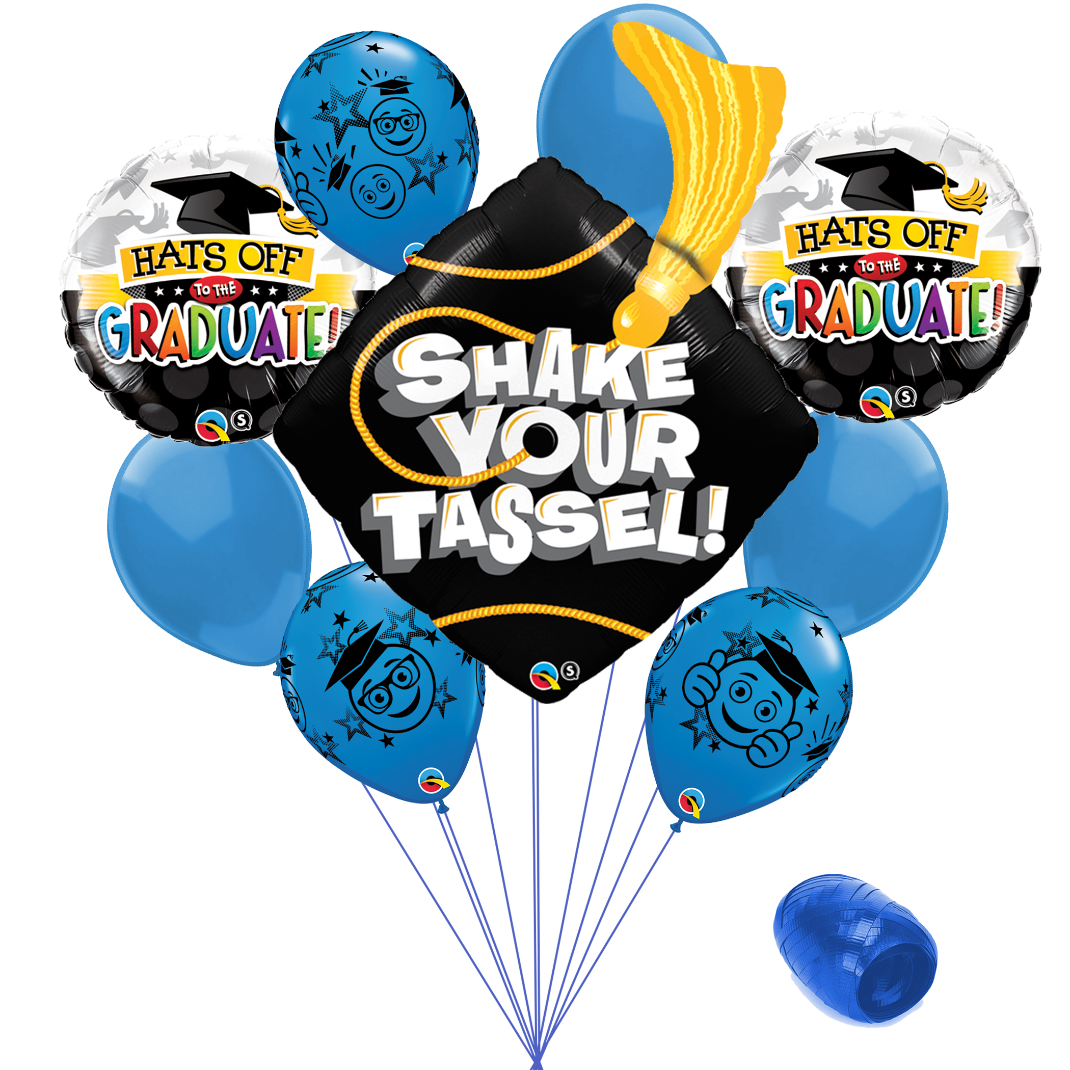 Ballons 18 Round Graduation Mylar Foil Balloon solid school color~ you choose