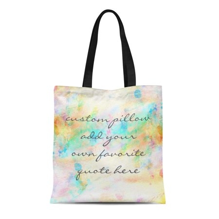 SIDONKU Canvas Tote Bag Name Custom Add Your Own Reusable Handbag Shoulder Grocery Shopping Bags](Custom Reusable Grocery Bags)