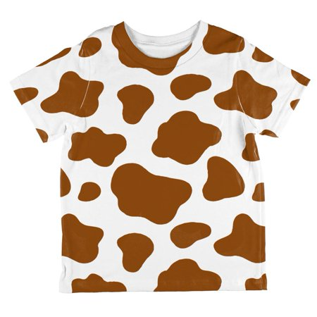 Halloween Costume Brown Spot Cow All Over Toddler T Shirt - Toddler Cow Halloween Costumes