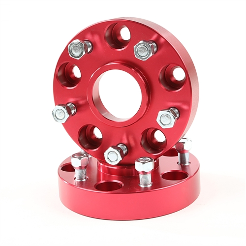 Alloy USA Wheel Spacers, 1.25 Inch, Red, 5x5; 99-04 Jeep Grand Cherokee 11303