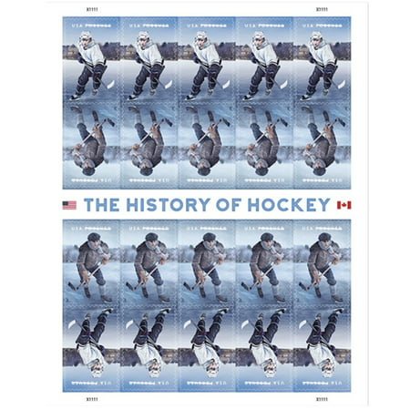 The History of Hockey 1 Sheet of 20 USPS First Class Forever Postage Stamps Canada Sports Vintage Ice (Usps Delivery Times To Canada)