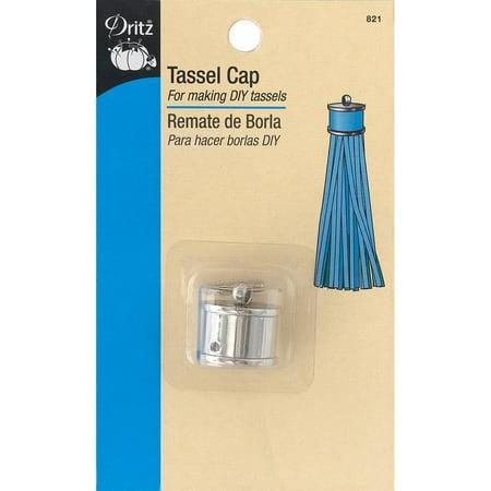- Dritz Metal Tassel Cap-Nickel