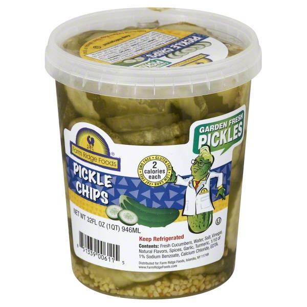 Farm Ridge Foods Garden Fresh Pickle Chips, 32 Fl. Oz.
