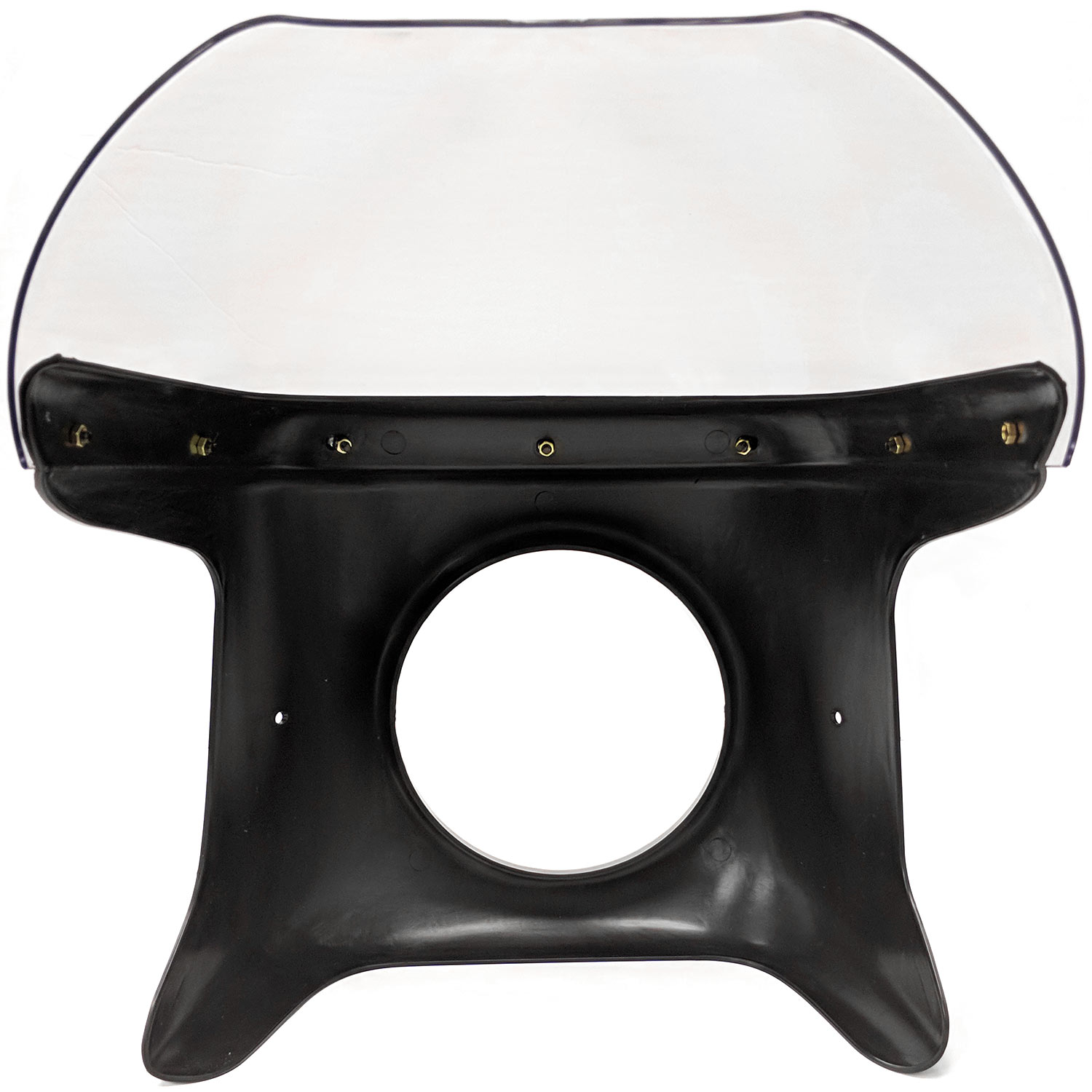 Krator Motorcycle 7 inch Headlight Fairing Screen Black & Clear for Kawsaki ZL 600 900 1000 Eliminator (Modification Maybe Required) - image 3 of 8