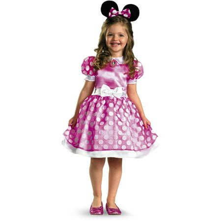 Pink minnie mouse classic toddler halloween costume 3t-4t