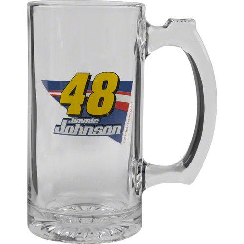 Jimmie Johnson Logo Glass Tankard