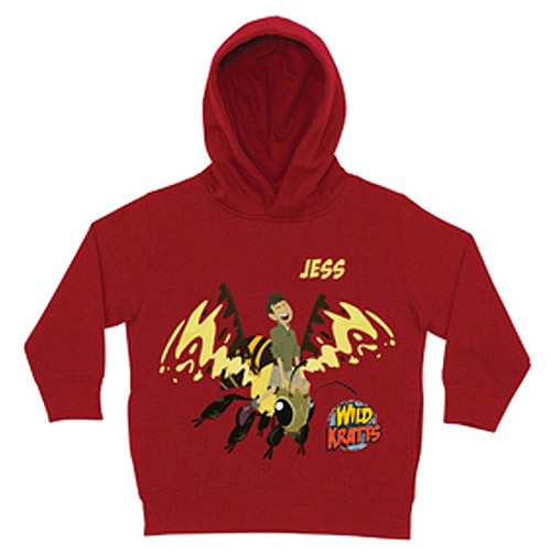 Personalized Wild Kratts Chris Wasp Ride Red Toddler Boys' Hoodie