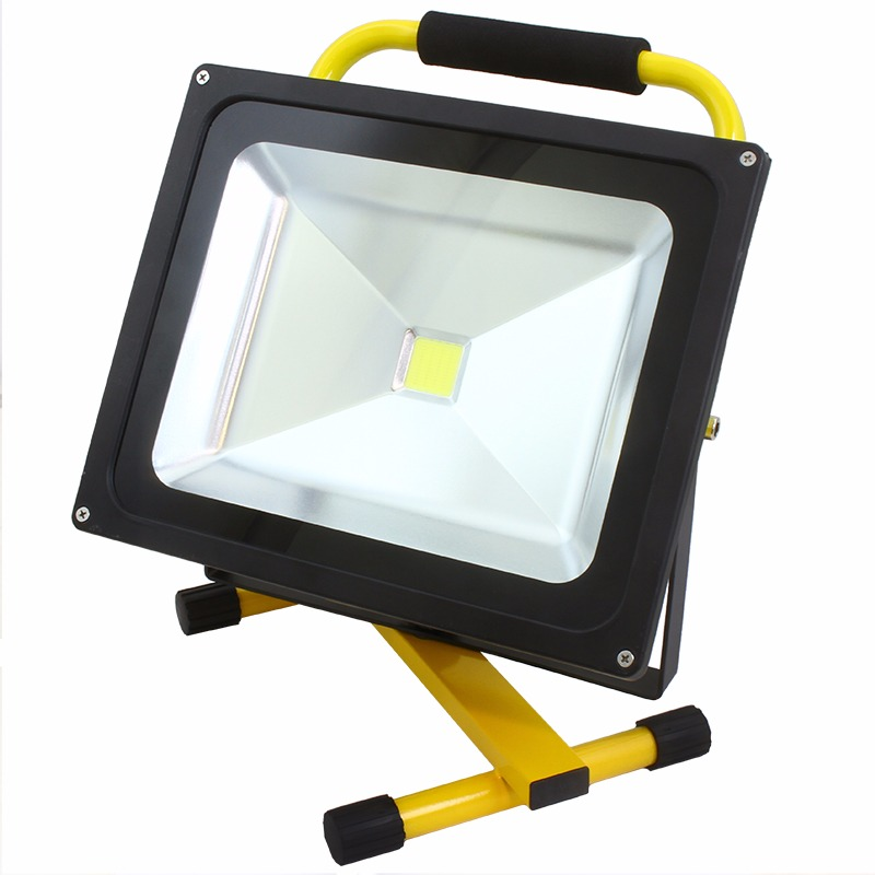 7.4V 50W Portable COB Bright LED Rechargeable Work Light Lamp CE EMC UL