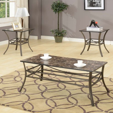 K & B Furniture T211 3 Piece Cocktail and End Table Set