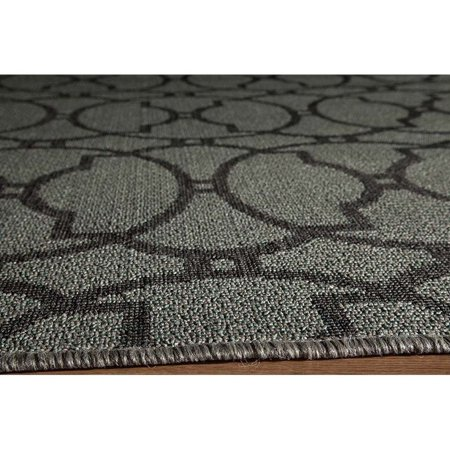 "Momeni Baja 6'7"" X 9'6"" Rug in Charcoal - image 1 of 2"