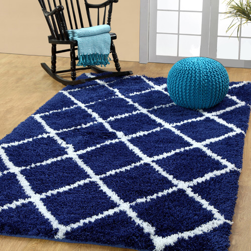 Affinity Linens Hand-Woven Navy Area Rug