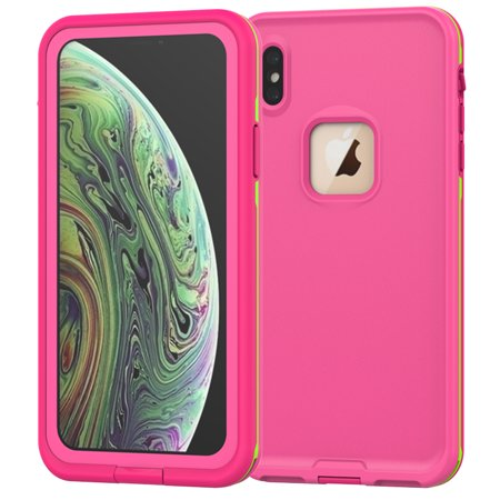 Protective Seal (iPhone Xr Waterproof Case, Allytech Full Body Protective Case Drop Resistance Snowproof Dustproof Shockproof Underwater Full Sealed Case for iPhone Xr 6.1-inch Phone, Pink)