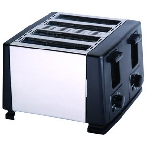 4SLICE TOASTER BLACK