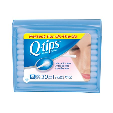 Q Tips Cotton Swabs Purse Pack For Makeup Application   30 Ea