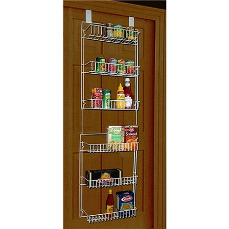 trademark home 5 39 overdoor storage basket rack. Black Bedroom Furniture Sets. Home Design Ideas